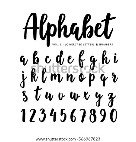 Hand Drawn Vector Alphabet Font Isolated Letters And Numbers Written With Marker Or Ink