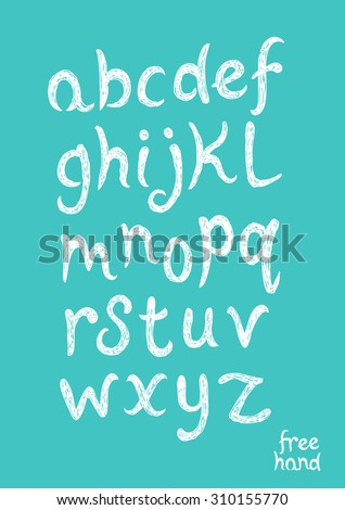 Hand Drawn Vector Alphabet text. Bold Handwriting. Vector illustration. - stock vector