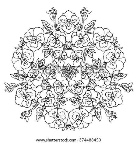 ekac 39 s adult coloring pages birds flowers mandala designs black and white set on shutterstock. Black Bedroom Furniture Sets. Home Design Ideas