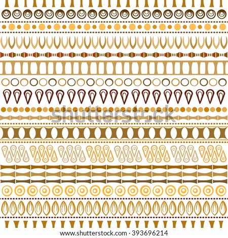 Hand drawn vector ethnic seamless pattern. Tribal ornament in african style.