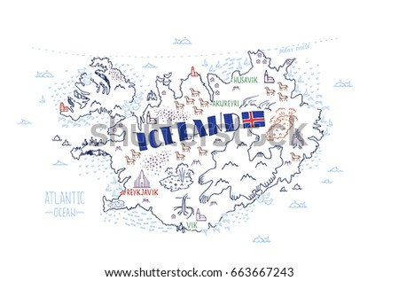 Iceland Vector Map Stock Images, Royalty-Free Images & Vectors ...
