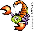 Hand-drawn Vector illustration of an Danger Scorpion - stock vector