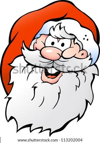 Hand-drawn Vector illustration of an Happy Smiling Santa - stock vector