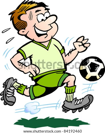 Hand-drawn Vector illustration of an Soccer Player - stock vector