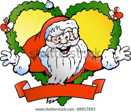 Hand-drawn Vector illustration of an Welcoming Santa Claus - stock vector