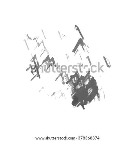 Hand drawn vector ink stain. - stock vector
