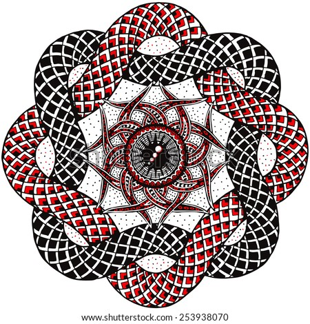 Hand-drawn Vector Mandala  - stock vector