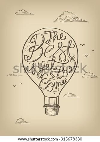 Hand drawn vector motivational poster - stock vector
