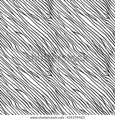 Hand drawn vector pattern. Seamless hand drawn zen tangle pattern. Repeating monochrome hand drawn pattern. Doodle endless background. Diagonal black lines pattern.