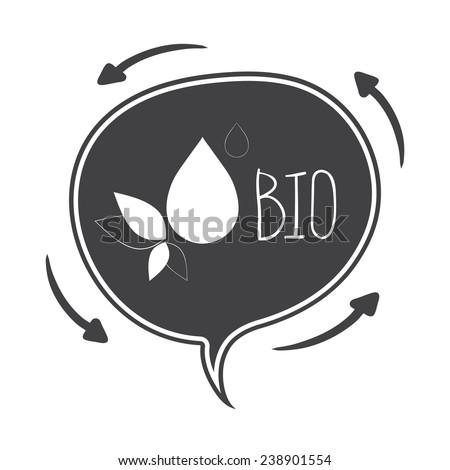 Hand drawn Vector speech bubble, concept bio - stock vector