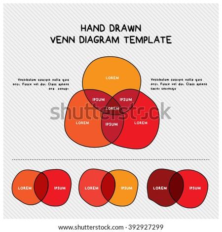 Hand Drawn Venn Diagram Template Stock Photo Photo Vector