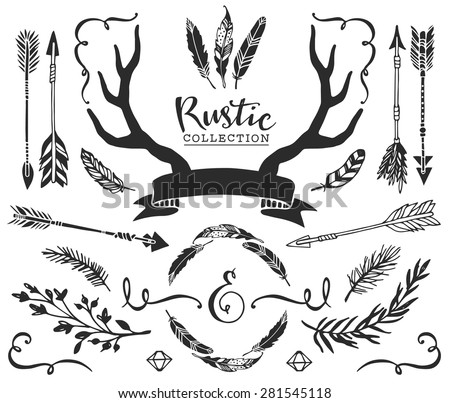 Arrow feather as well Search P2 additionally Search Vectors moreover Stock Illustration Deer Silhouettes as well Tatouages  E2 80 8B E2 80 8Bde Taureaux. on free clip art deer head with horns