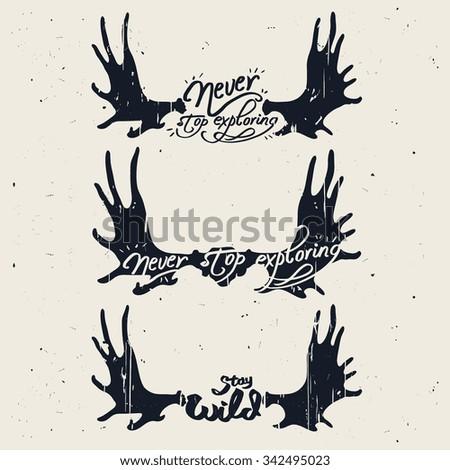 Moose antlers vector