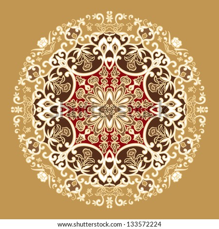 hand drawn vintage floral pattern - stock vector