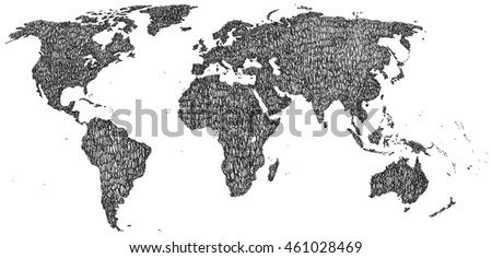 Hand drawn world map earth map stock vector 461028469 shutterstock hand drawn world map earth map vector illustration gumiabroncs Images
