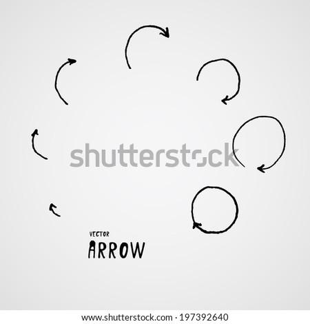hand drown elements. arrow. vector illustration - stock vector