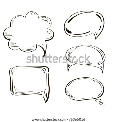 Hand-drown tags collection. Vector EPS-8 - stock vector