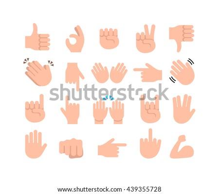 Hand emoji icon. Hand emoji abstract. Hand emoji sign. Hand emoji symbol. Hand emoji vector. Hand emoji set. Hand emoji collection. Hand emoji flat. Hand emoji message. Hand emoji eps. Hand emojis - stock vector