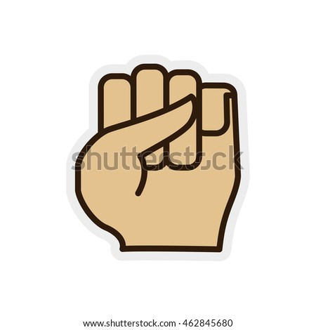 hand finger gesture palm icon. Isolated and flat illustration. Vector graphic