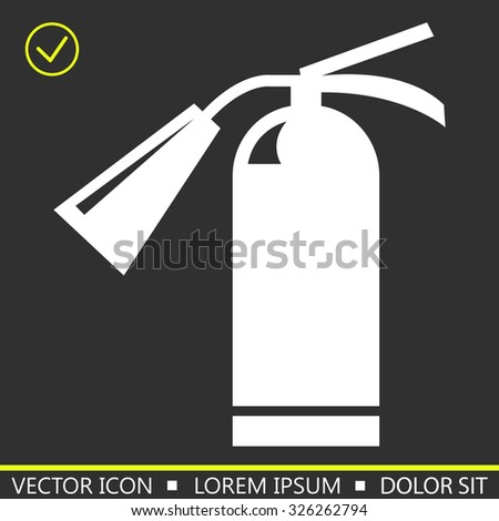 Hand fire extinguisher icon. vector illustration - stock vector