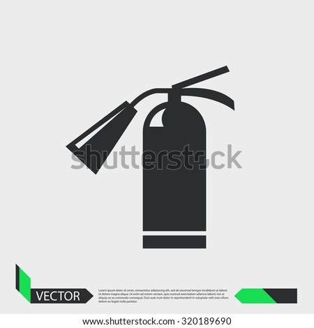 Hand fire extinguisher. vector illustration - stock vector