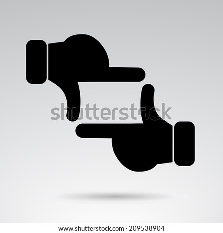 Hand frame creative icon. Vector art. - stock vector