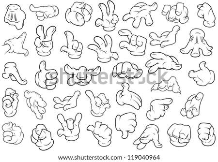 Hand Gestures - Vector Illustration - stock vector