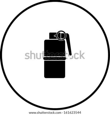 hand grenade explosive symbol - stock vectorExplosive Symbol Vector