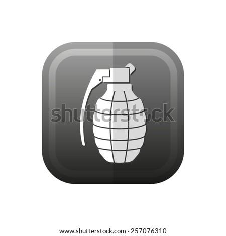 hand grenade - vector icon, flat design - stock vector
