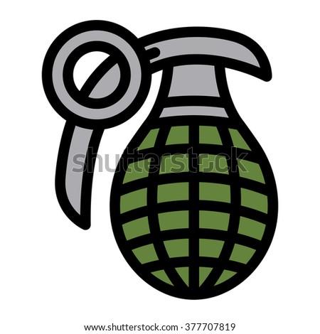 hand grenade vector illustration stock vector 377707819 shutterstock rh shutterstock com grenade vector free grenade fruit vector