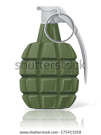 hand grenade vector illustration isolated on white background