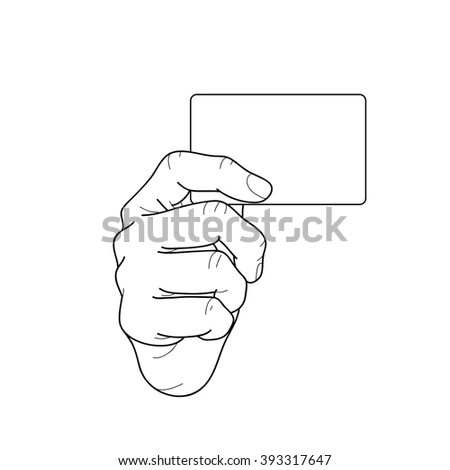 hand hold business card,hand show card