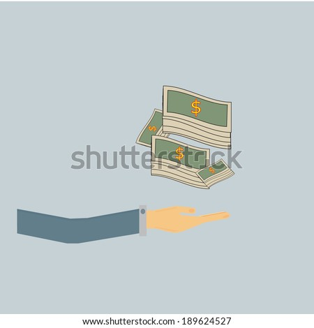 hand hold money,business vector