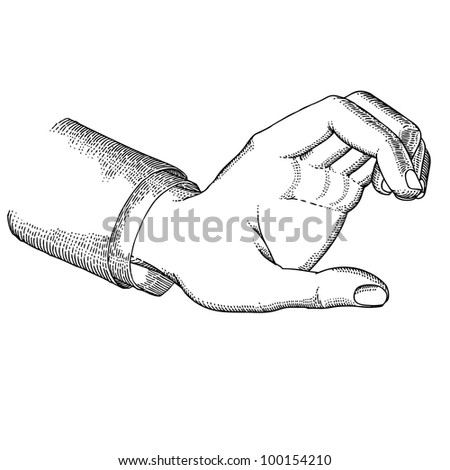 Hand holding - stock vector