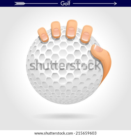 Hand Holding a Golf Ball Icon/Sticker
