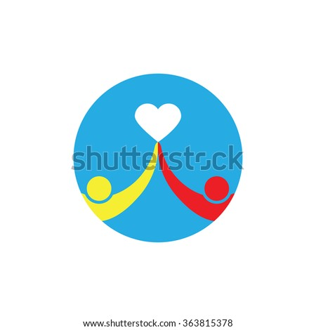 hand holding a heart icon, isolated vector symbol