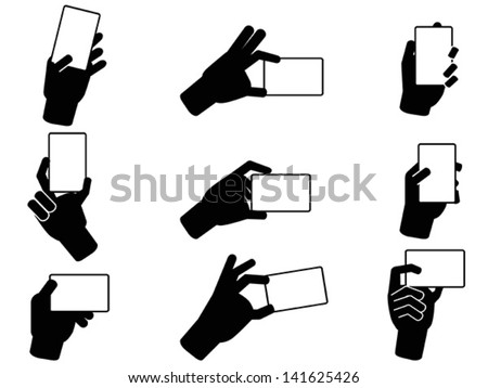 Hand holding business cards stock vector 141625426 shutterstock hand holding business cards colourmoves