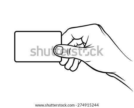 Hand holding card