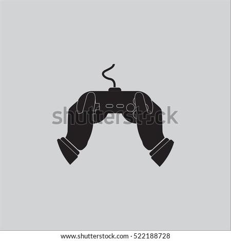 Hand holding game controller icon vector