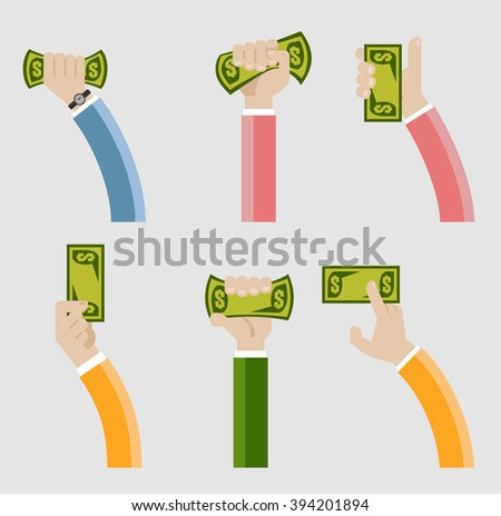 Hand holding money