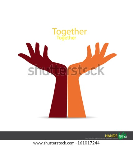Hand holding. Vector EPS10 - stock vector