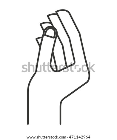 hand human sign isolated icon vector illustration design
