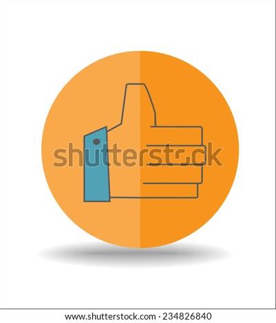 Hand icon - stock vector