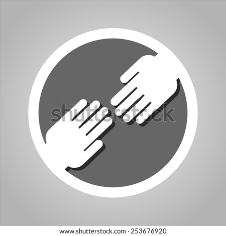 Hand icon great for any use. Vector EPS10. - stock vector