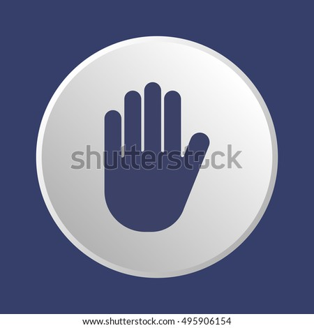 Hand   icon,  isolated. Flat  design.