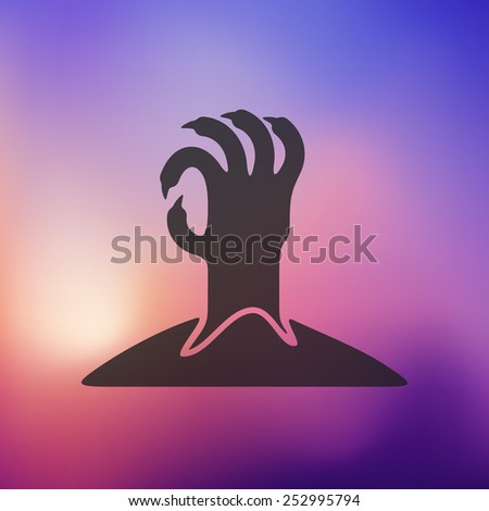 hand icon on blurred background - stock vector