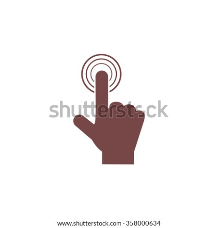 Hand icon pointer - click. Colorful vector icon. Simple retro color modern illustration pictogram. Collection concept symbol for infographic project and logo - stock vector