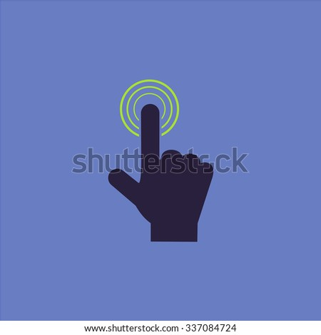 Hand icon pointer - click. Icon Vector. Icon Picture. Icon Graphic. Icon Art. Icon JPG. Icon JPEG. Icon EPS. Icon AI. Icon FLAT. Icon SIMPLE - stock vector