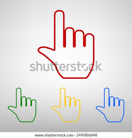 hand icon pointer. vector eps8