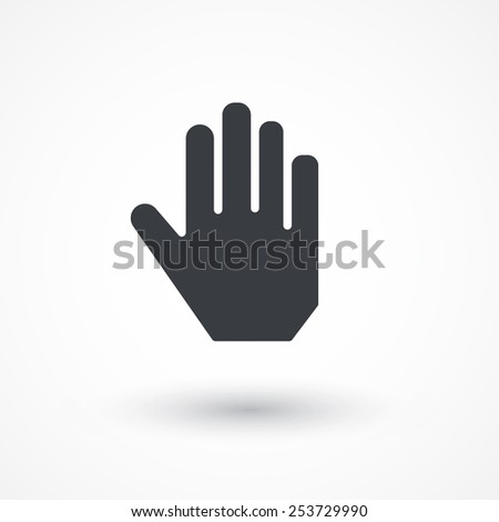 Hand icon. Stop sign - stock vector
